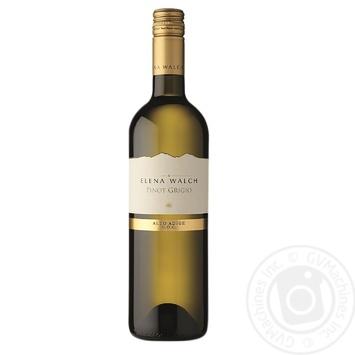 Вино Walch Pinot Grigio Elena белое сухое 0,75л