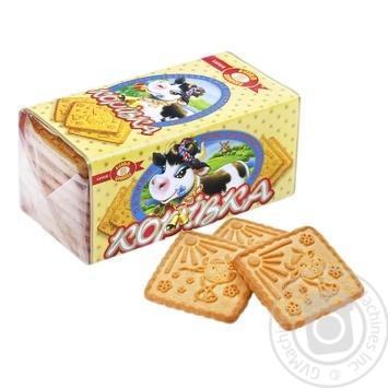 Печиво Корівка зі смаком топленого молока 180г - купити, ціни на МегаМаркет - фото 1