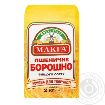 Мука пшеничная Макфа Премиум 2кг - купить, цены на МегаМаркет - фото 1