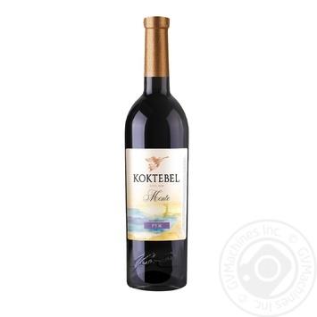 Вино Коктебель Монте Руж красное ординарное столовое полусладкое 13% 0,75мл