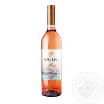 Вино Koktebel Monte Розе розовое полусладкое 13% 0,75л