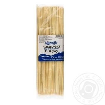 Палочка для шашлыка Инпак 25см 100шт - купить, цены на Novus - фото 1