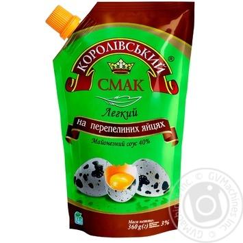 Соус майонезный Королевский вкус Легкий на перепелиных яйцах 40% 360г - купить, цены на Novus - фото 1