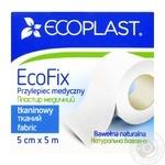 Пластырь Ecoplast EcoFix медицинский тканый 5смx5м