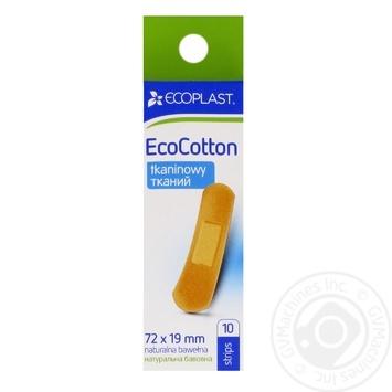 Пластир мед тк 72x19mm Ecoplast 10 шт - купить, цены на Фуршет - фото 1