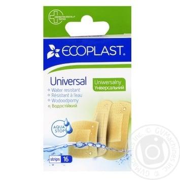 Набор пластырей медицинский Ecoplast Универсал 16шт - купить, цены на Фуршет - фото 1