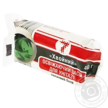 Освежитель Семерка для унитаза хвойний 40г - купить, цены на Таврия В - фото 1