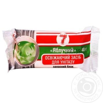 Освежитель Семерка для унитаза яблоко 40г - купить, цены на Таврия В - фото 1