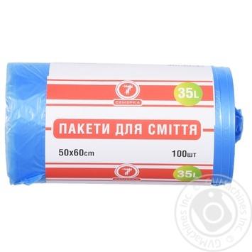 """Пакет д/сміття """"7"""" 35 л 100 шт."""