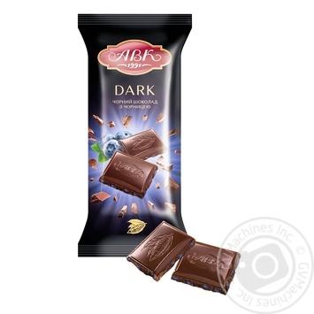 Шоколад черный АВК с черникой 90г - купить, цены на Novus - фото 1