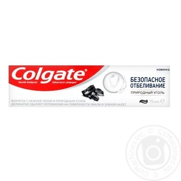 Colgate Safe Bleaching Toothpaste with Natural Coal 75ml - buy, prices for Furshet - image 2