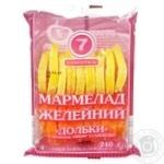 Мармелад Семерка 240 г часточки зі смаком лимону та апельсину