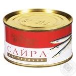 Сайра Українська Зірка натуральная 240г