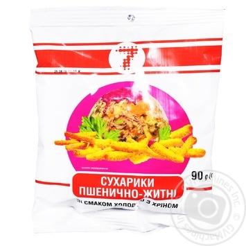 Сухарики Семерка пшеничные со вкусом холодца с хреном 90г