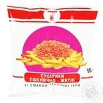 Сухарики Семерка пшеничные со вкусом красной икры 90г