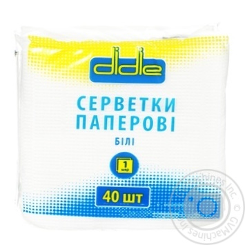 Didie Single-Layer Napkins 40pc - buy, prices for Tavria V - image 1