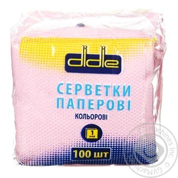 Didie Single-Layer Napkins 100pc - buy, prices for Tavria V - image 1