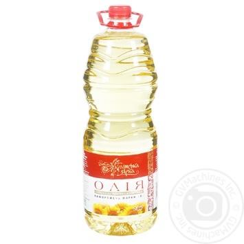 Масло подсолнечное Українська Зірка рафинированное 2л - купить, цены на Таврия В - фото 1