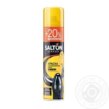 Краска для обуви из гладкой кожи Salton черная 300мл - купить, цены на МегаМаркет - фото 1