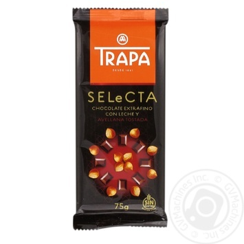 TRAPA Selecta Milk Chocolate with Hazelnuts 75g
