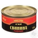 Свинина Українська Зірка тушеная 325г