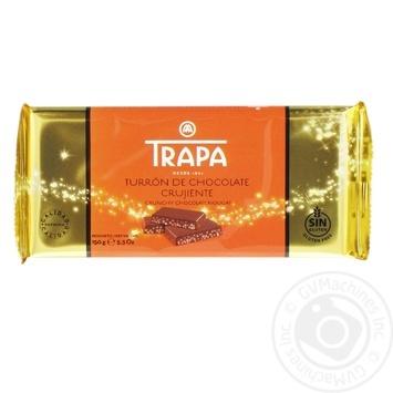 Туррон Trapa молочный хрустящий с возд рисом 150g - купить, цены на Фуршет - фото 1