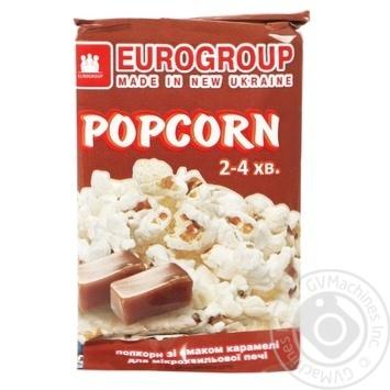 Микропопкорн Eurogroup со вкусом карамели 90г - купить, цены на Таврия В - фото 1