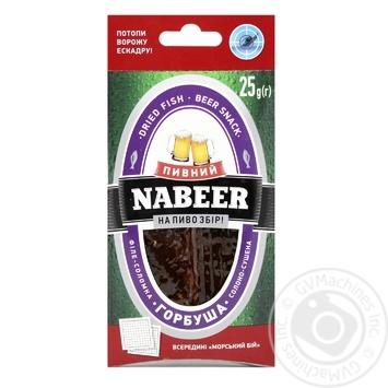 Горбуша Nabeer Пивний солоно-сушена 25г - купити, ціни на Novus - фото 1