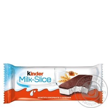 Пирожное Kinder Milk-Slice бисквитное с молочной начинкой 28г - купить, цены на Таврия В - фото 1