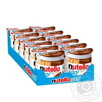 Nutella Hazelnut And Cocoa Spread And Breadsticks (Nutella&GO) 52g - buy, prices for Tavria V - image 2