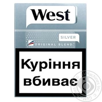 Сигареты West Original Blend Silver 25шт - купить, цены на Фуршет - фото 2
