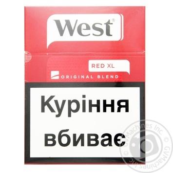 Сигареты West Original Blend Red XL 25шт - купить, цены на СитиМаркет - фото 1