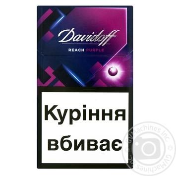 Сигареты Davidoff Reach Purple - купить, цены на Фуршет - фото 1