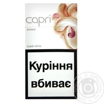 Сигареты Capri Bianco - купить, цены на Фуршет - фото 1