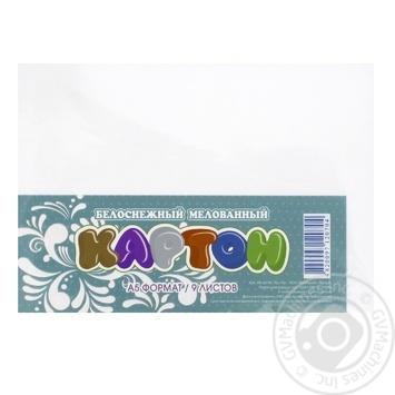 Картон Мандарин белоснежный А5 9 листов - купить, цены на Фуршет - фото 1