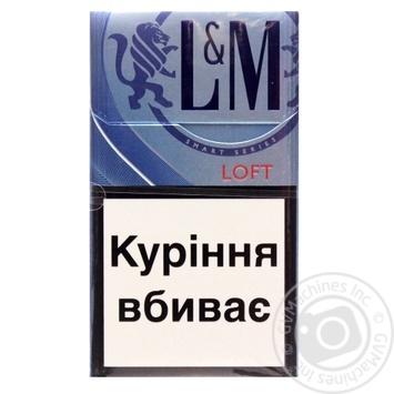 Цигарки L&M Loft Sea Blue 20шт - купити, ціни на CітіМаркет - фото 1