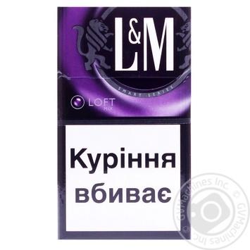 Сигареты L&M Loft Mix 20шт - купить, цены на Фуршет - фото 1