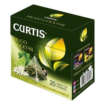 Чай зеленый Curtis Hugo Cocktail в пирамидках 20шт*1,8г - купить, цены на Ашан - фото 1