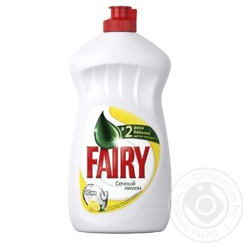 Fairy Juicy Lemon Dishwashing Liquid Detergent 500ml - buy, prices for Furshet - image 1