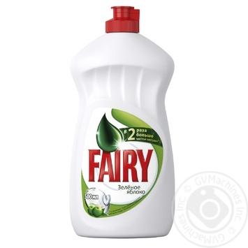 Средство для мытья посуды Fairy Зеленое яблоко 500мл - купить, цены на МегаМаркет - фото 1