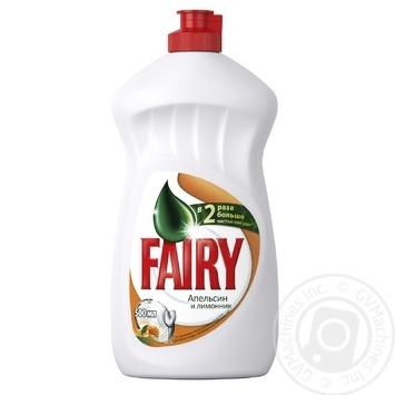 Жидкость для мытья посуды Fairy Апельсин и лимонник 500мл - купить, цены на Фуршет - фото 1