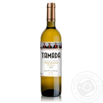 Вино Tamada Цинандали белое сухое 13% 0,75л