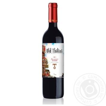 Вино Old Tbilisi Алазани красное полусладкое 12% 0,75л