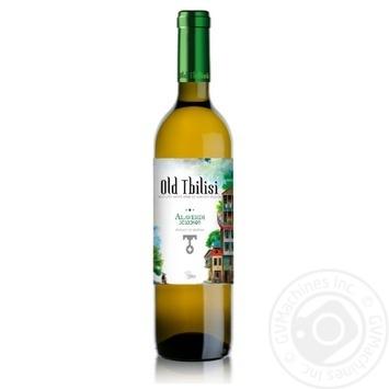 Вино Старый Тбилиси Алаверди белое полусухое 12% 0,75л