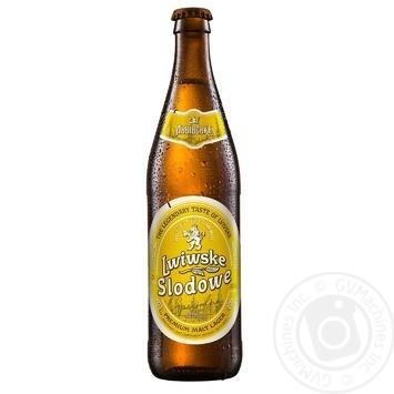 Пиво Lwiwske Slodowe Specjalne специальное светлое пастеризованое 4,4% 0,5л