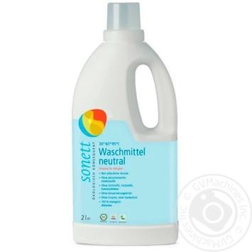 Жидкое стиральное средство Sonett органическое Нейтральная серия Концентрат 2л - купить, цены на Ашан - фото 1