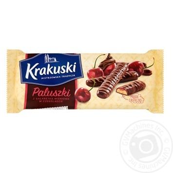 Печенье Krakuski с вишневым желе в шоколаде 144г