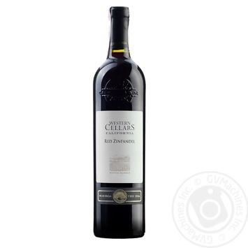 Western Cellars Red Zinfandel red dry wine 13.5% 0.75l - buy, prices for Furshet - image 1