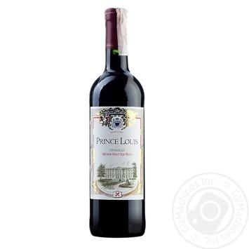 Вино красное Принц Луи Руж Медиум Свит виноградное натуральное полусладкое 10% стеклянная бутылка 750мл Франция