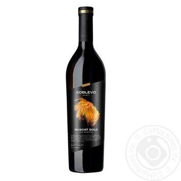 Вино белое Коблево Селект Мускат Золотой виноградное ординарное десертное сладкое крепленое специального типа 16% 750мл